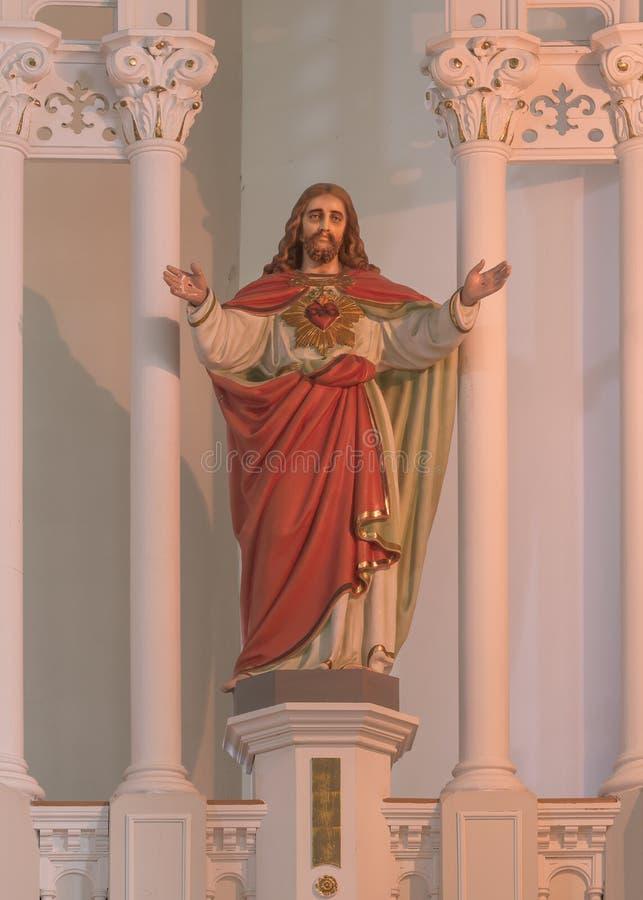 Świętego Peter ` s kościół katolickiego rzeźba Jezus fotografia stock