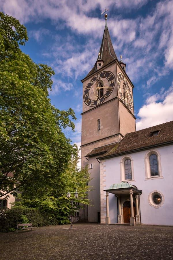 Świętego Peter ` s kościół w Zurich, Szwajcaria zdjęcie stock