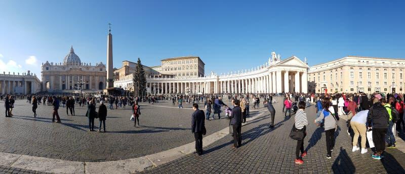Świętego Peter ` s kwadrat, plac, tłum, miasto, punkt zwrotny obraz stock
