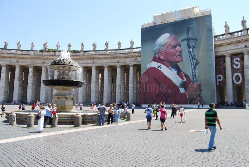 Świętego Peter ` s kwadrat, Rzym, punkt zwrotny, turystyka, rynek, atrakcja turystyczna zdjęcie royalty free