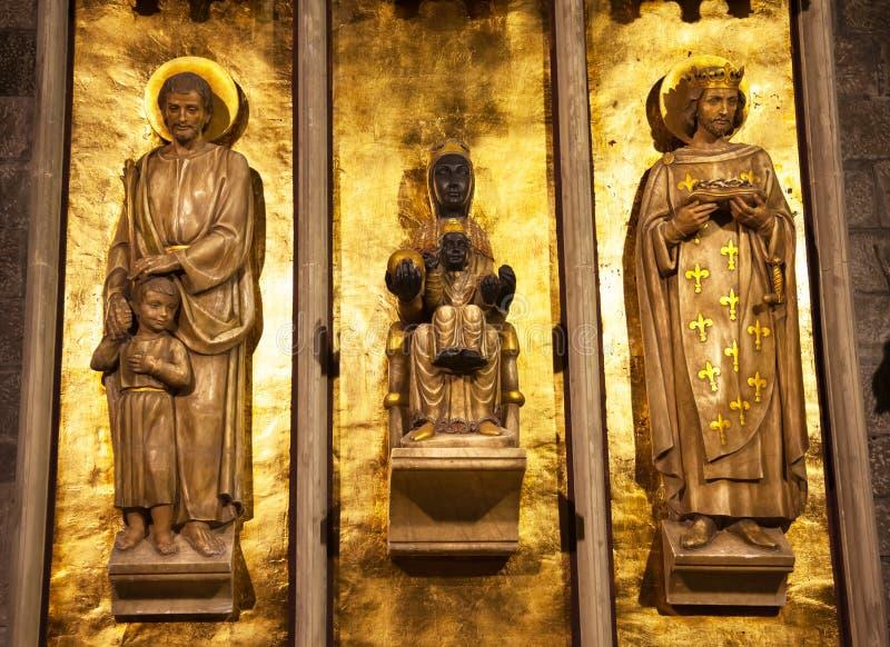 Świętego Roc Pere Regalat, Czarny Madonna Barcelona obrazy royalty free
