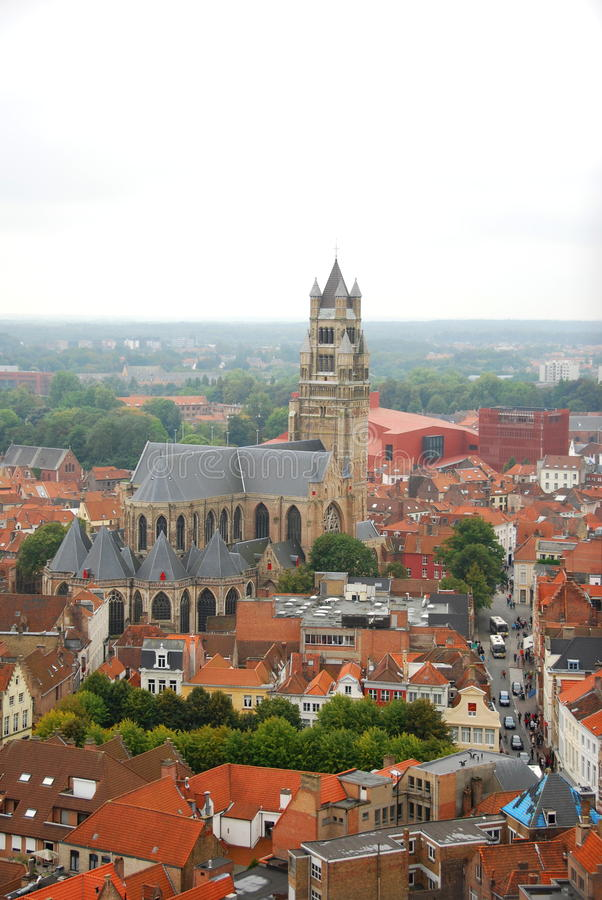 Świętego Salvator katedra, Bruges zdjęcia royalty free