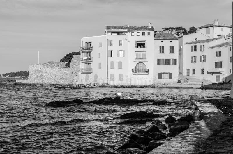 Świętego Tropez domy w Provence, Francja zdjęcie stock
