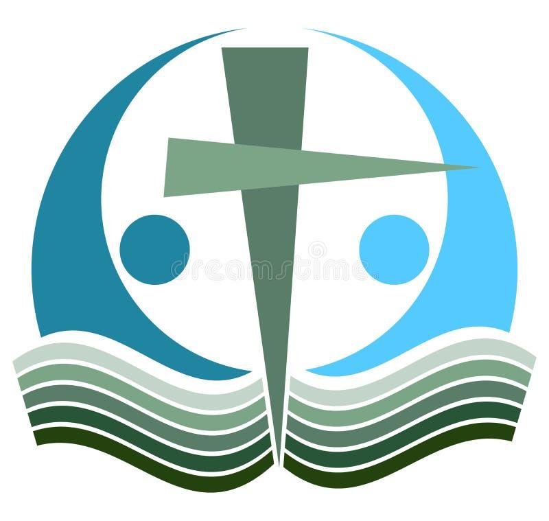 Świętej biblii krzyża logo ilustracja wektor
