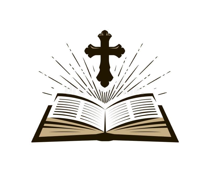 Świętej biblii symbol Cześć, kościół, psalm ikona również zwrócić corel ilustracji wektora ilustracja wektor