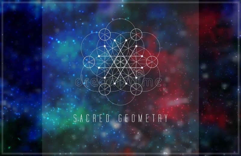 Świętej geometrii projekta wektorowy element ilustracja wektor