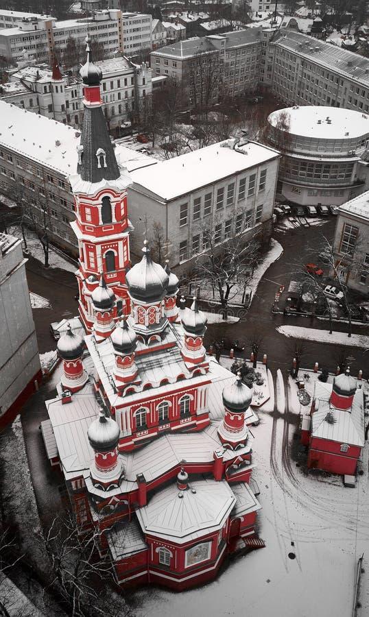 Świętej trójcy Ortodoksalny kościół w Ryskim obraz stock