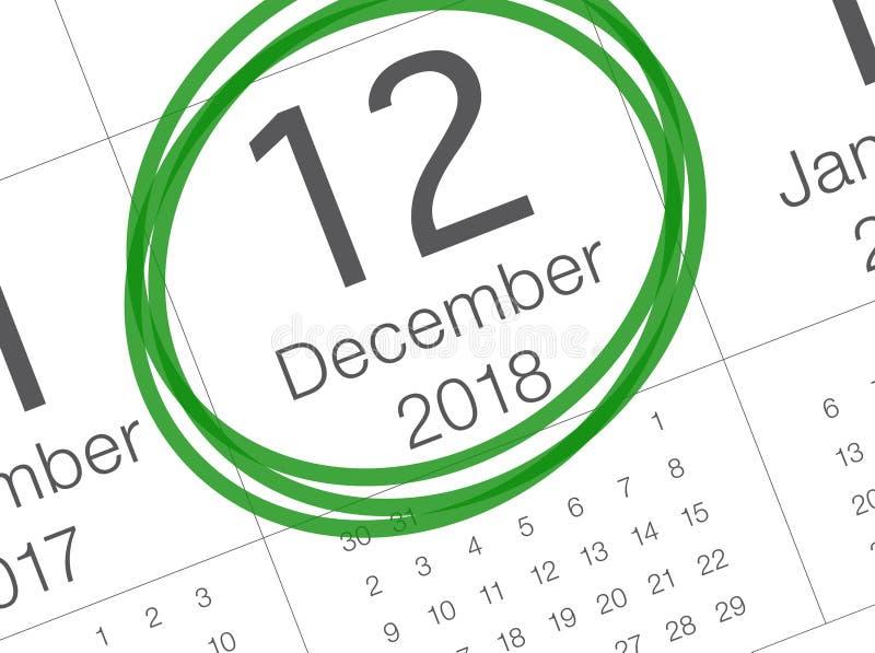 Święto Bożęgo Narodzenia kalendarz na dzienniczku obrazy stock