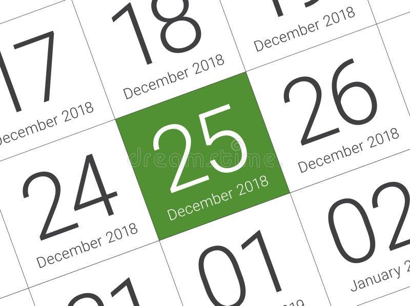 Święto Bożęgo Narodzenia kalendarz na dzienniczku zdjęcia royalty free