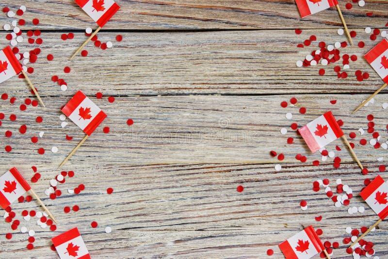 Święto narodowe Lipiec 1 - szczęśliwy Kanada dzień, dominium dzień pojęcie patriotyzm, niezależność i pamięć, miejsce dla zdjęcia stock