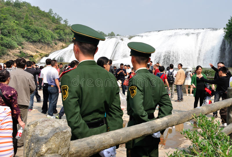 Święto państwowe orężna policja na obowiązku fotografia royalty free