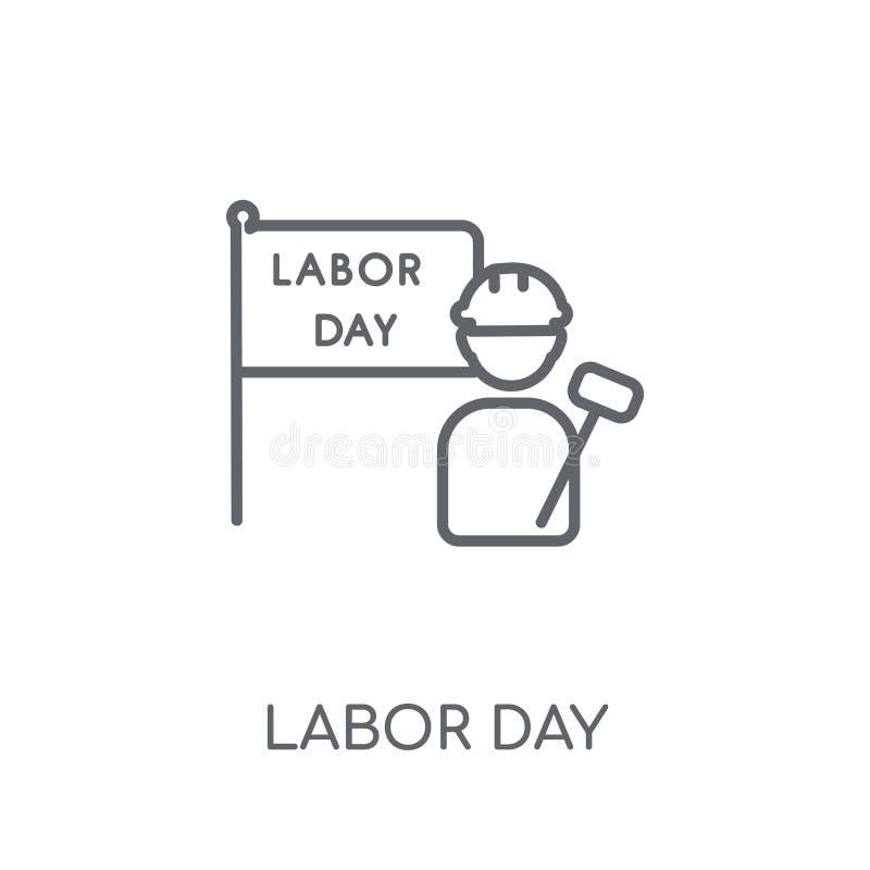 Święto Pracy liniowa ikona Nowożytny konturu święto pracy logo pojęcie dalej royalty ilustracja