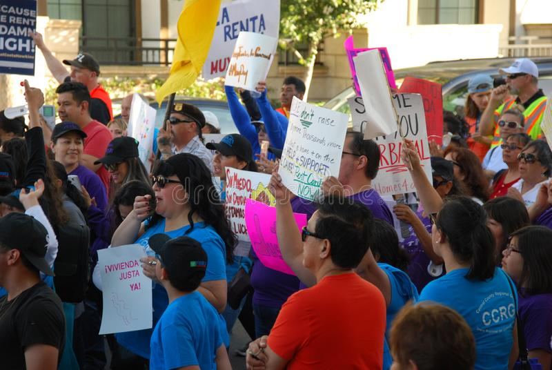 Święto Pracy marszu zgoda Cslifornia fotografia royalty free