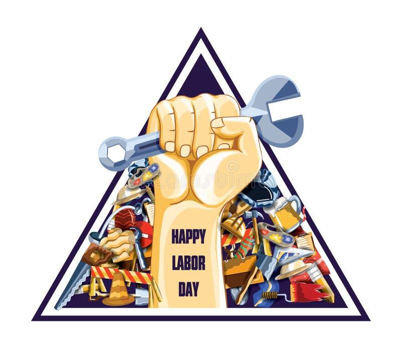 Święto Pracy, 1 może wektorowy plakata, sztandaru lub ulotki szablon, ilustracja wektor