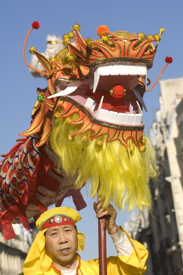 świętowania chiński nowy Paris rok obraz royalty free