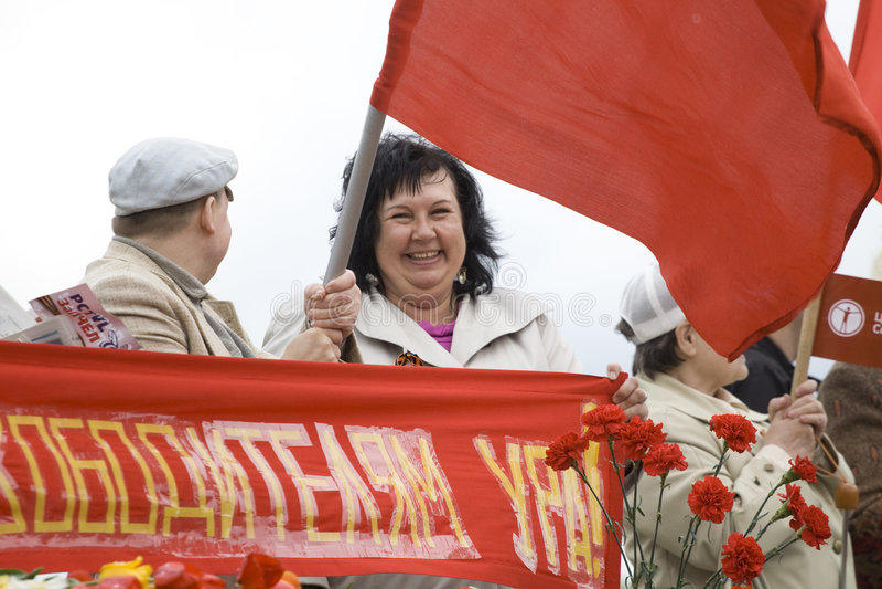 świętowania dzień Riga zwycięstwo obraz stock