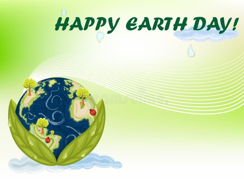 świętowania dzień ziemia royalty ilustracja