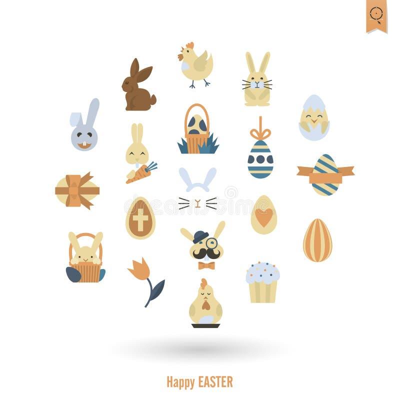 Świętowania Easter ikony