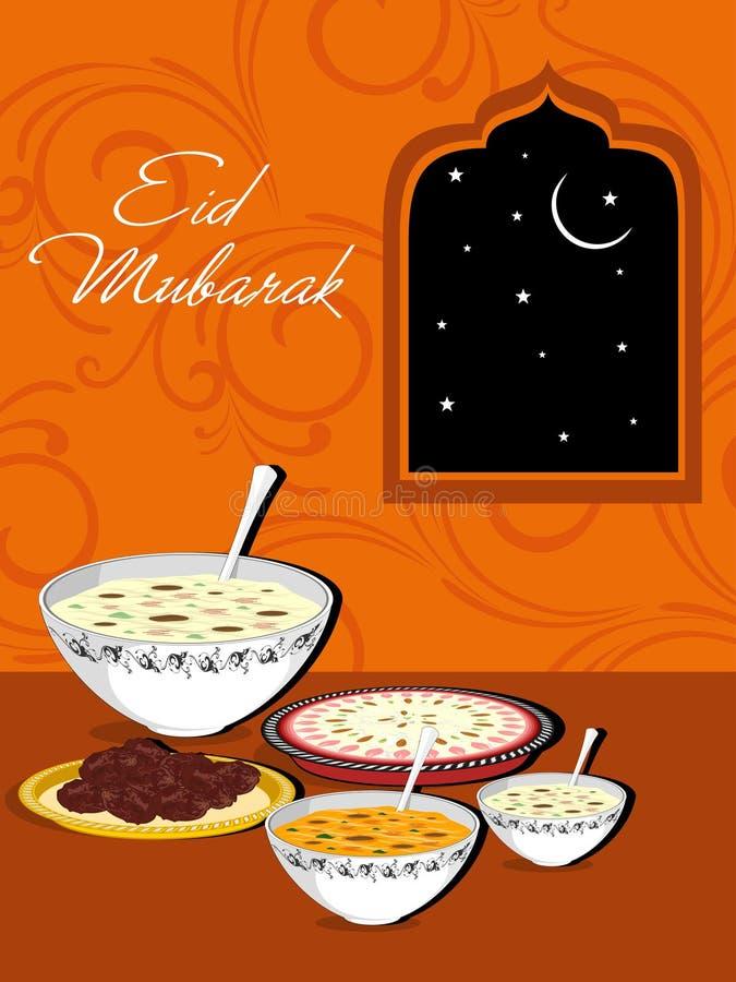 świętowania eid ilustracja Mubarak royalty ilustracja