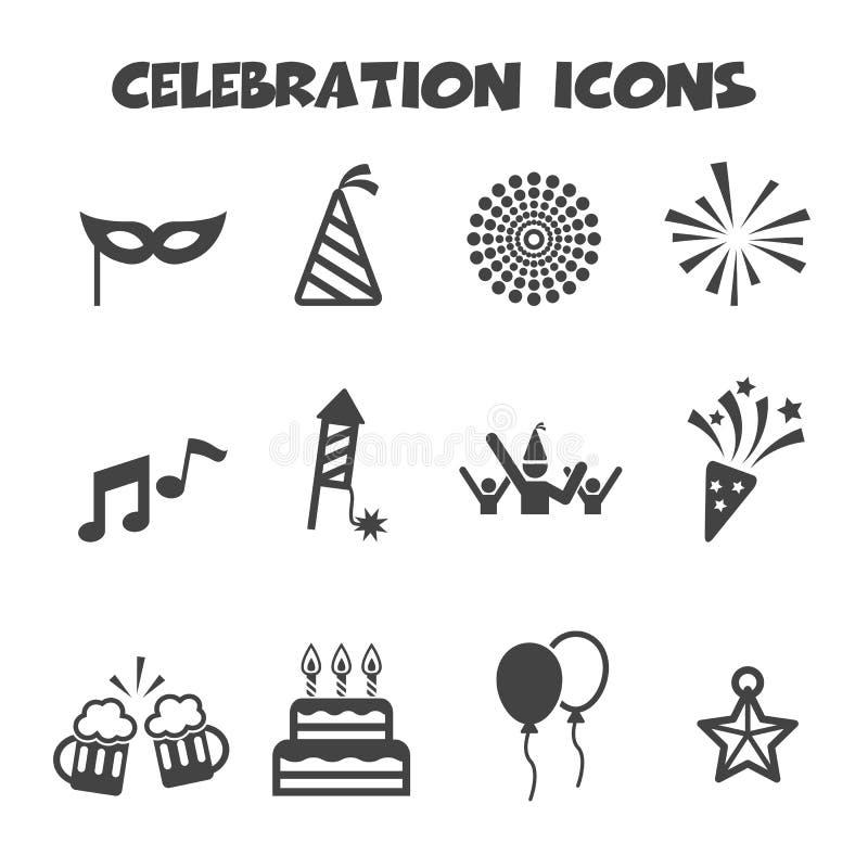 świętowania projekta elementu ikony ilustracyjne