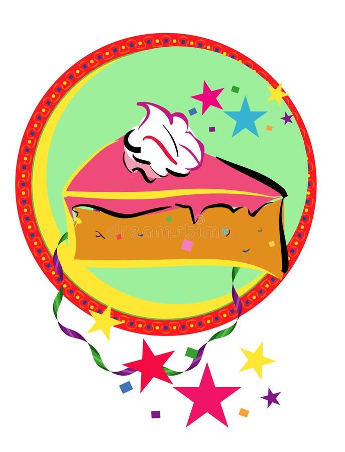 świętowanie ciasta royalty ilustracja