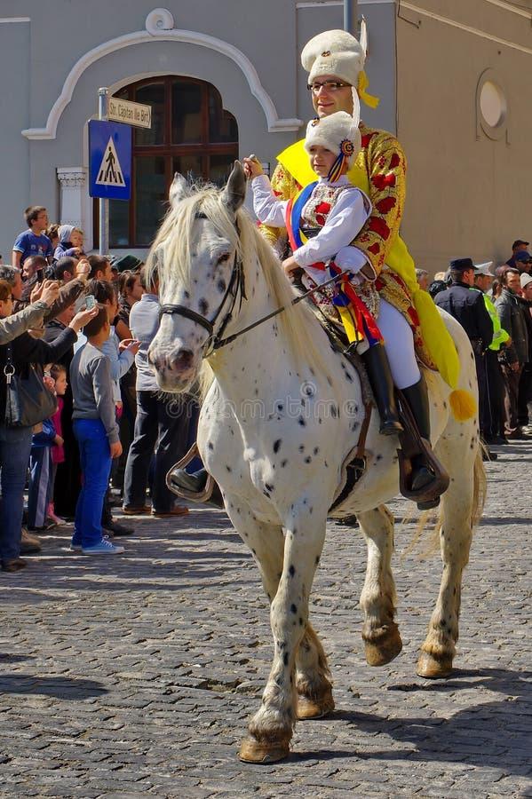 Świętowanie dni Brasov miasto zdjęcie royalty free