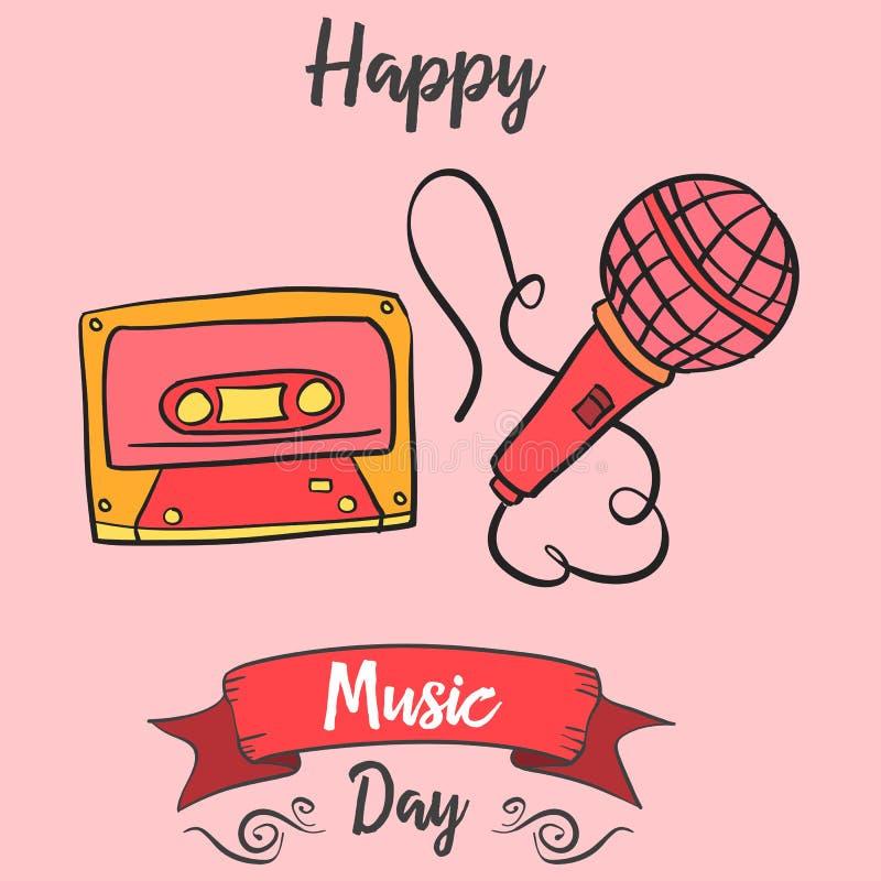 Świętowanie dnia karty wektoru muzyczna sztuka