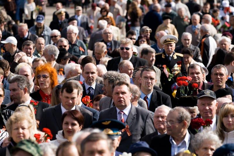świętowanie dnia platformy wschodniej Europy zwycięstwa obraz stock