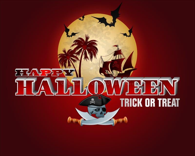 Świętowanie Halloween w tropikalnym klimacie ilustracja wektor