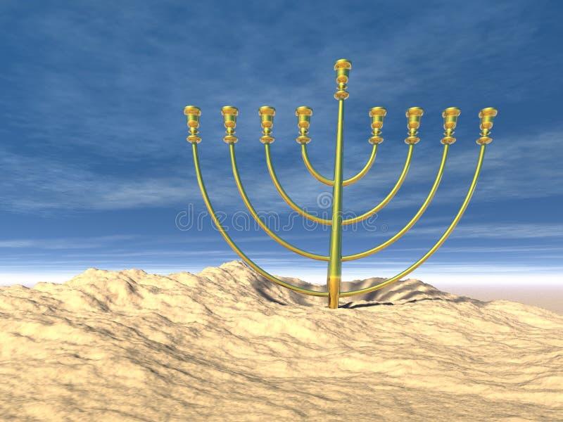 świętowanie Hanukkah royalty ilustracja