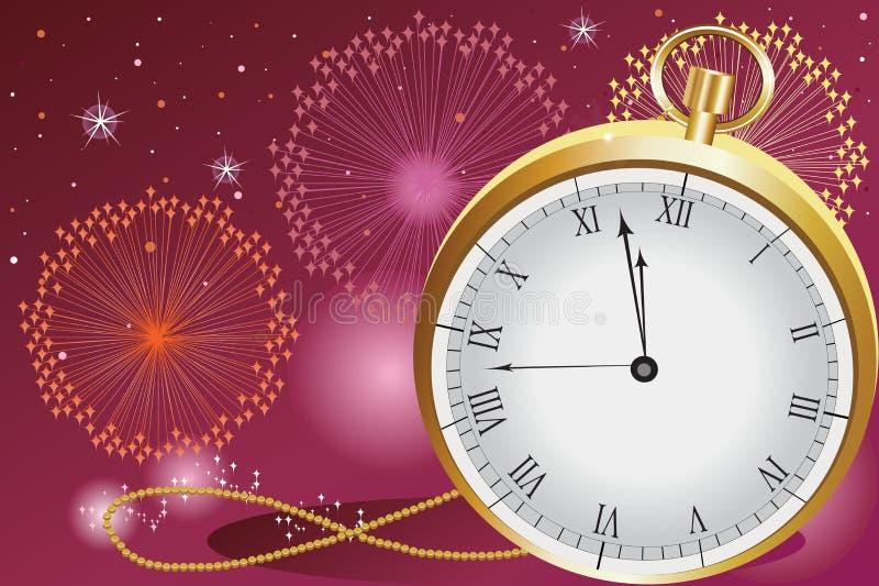 świętowanie nowy rok ilustracja wektor