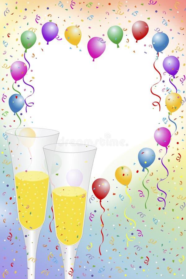 świętowanie szampana royalty ilustracja