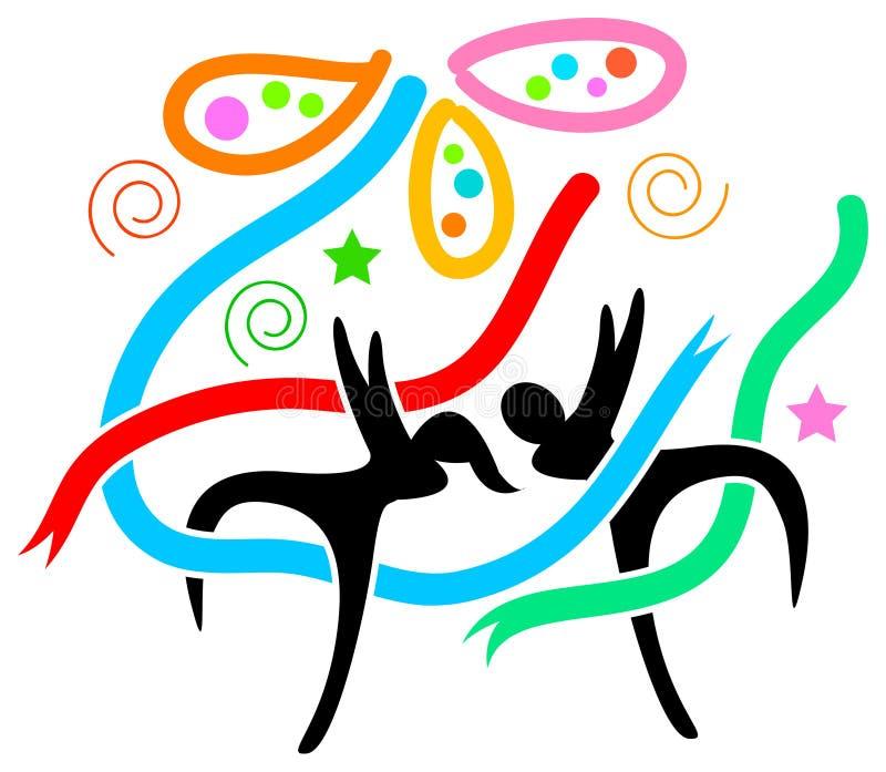 świętowanie szczęśliwy ilustracja wektor