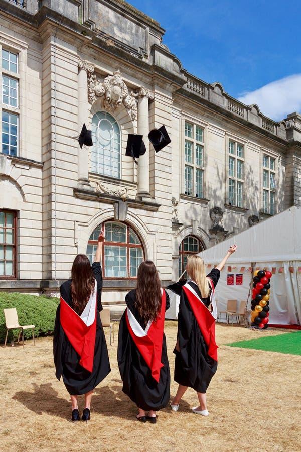 Świętowanie zakończenia studiów w Cardiff fotografia royalty free