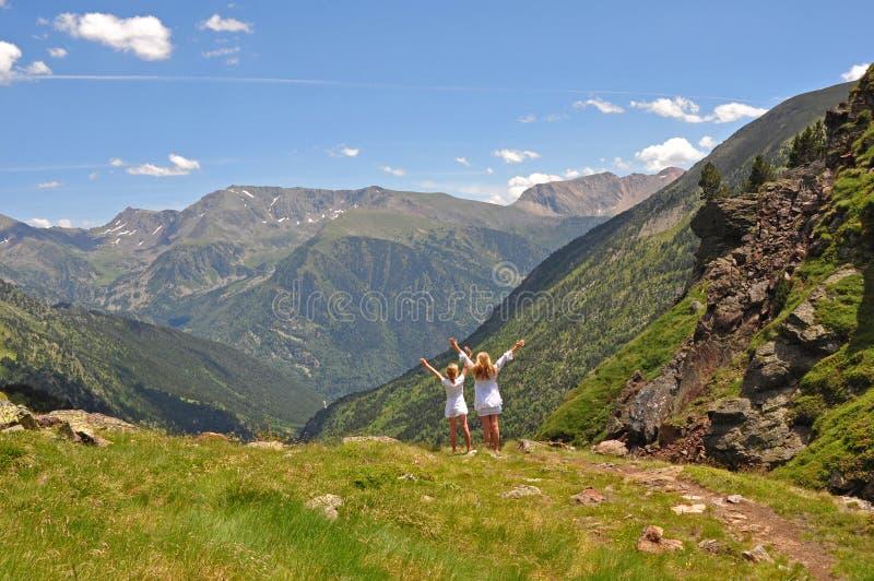 świętuje góry zdjęcie royalty free