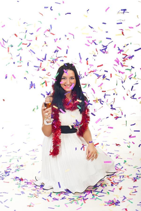 świętuje kobieta nowego rok zdjęcia royalty free
