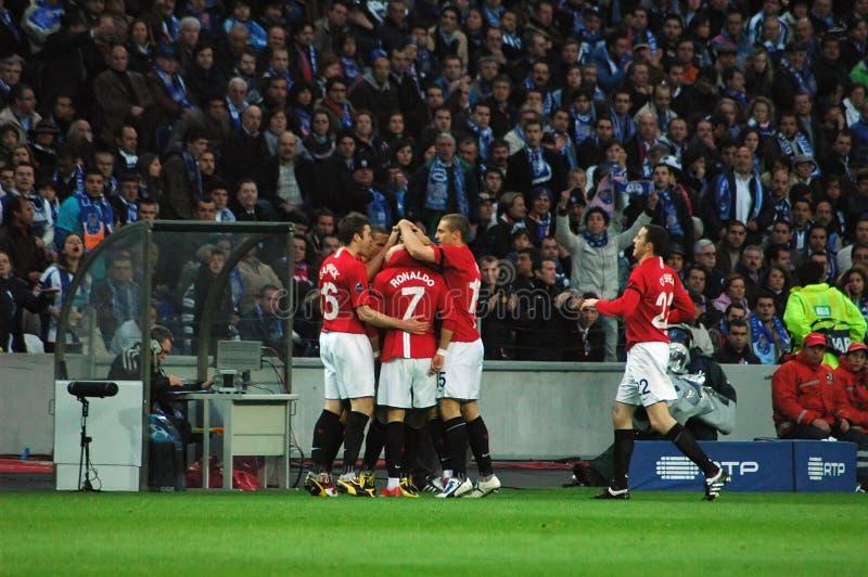 świętuje Ronaldo fotografia stock