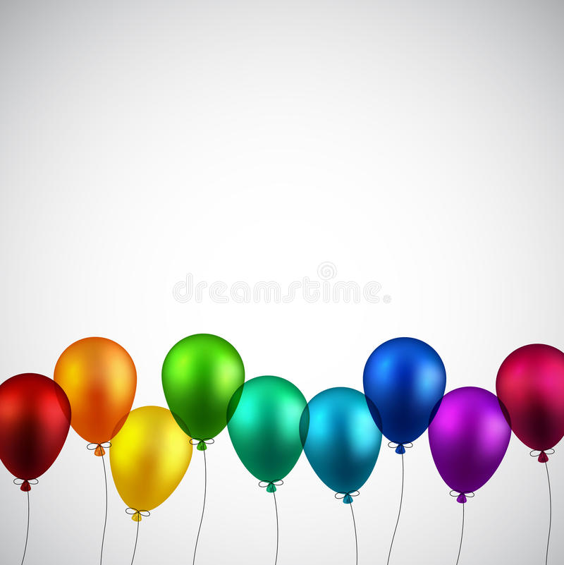 Świętuje tło z balonami ilustracji