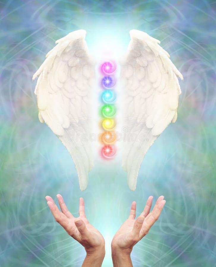 Święty anioła Chakra gojenie obraz royalty free