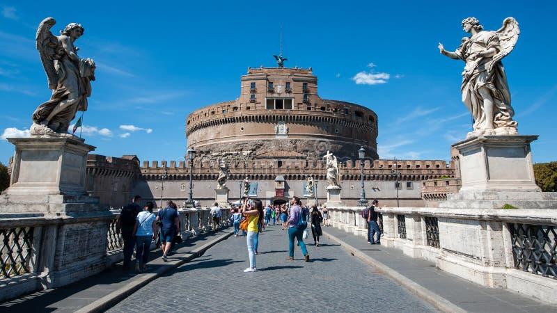 Święty anioła fort i Święty anioła most obrazy royalty free