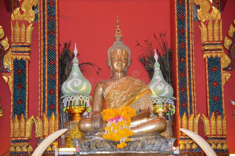 Święty Buddha wizerunek Luang Pora Pra Sai zdjęcia stock