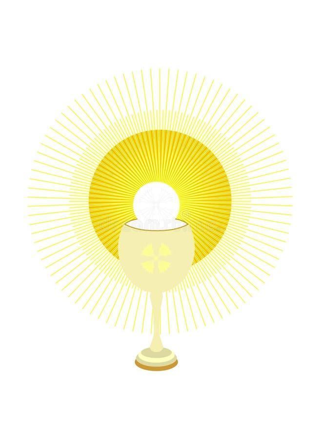 święty chalice gospodarz royalty ilustracja