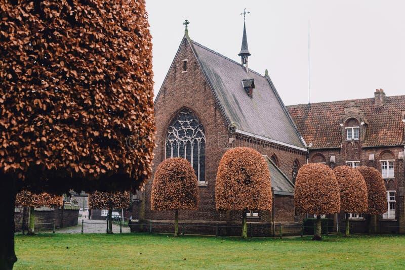Święty Elisabeth Beguinage w Gent obrazy royalty free