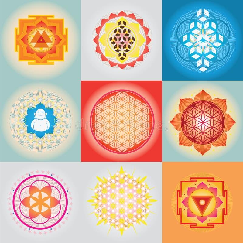 Święty geomerty set royalty ilustracja