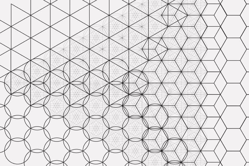 Święty geometria elementów i symboli/lów tło royalty ilustracja