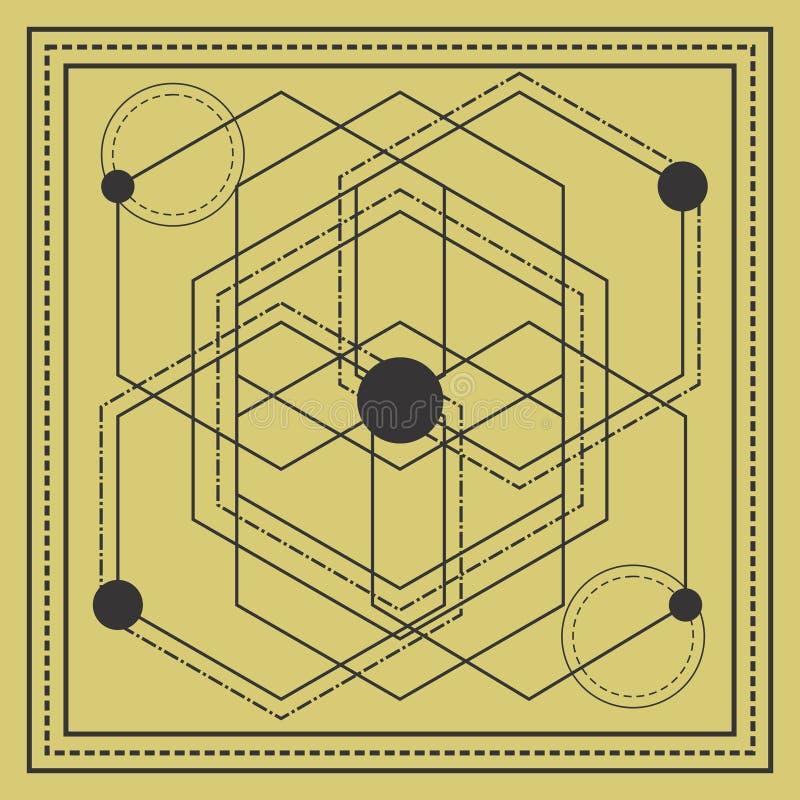 święty geometria kwadrata projekt zdjęcie royalty free