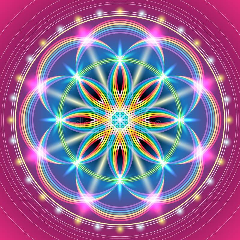 Święty geometria kwiat royalty ilustracja