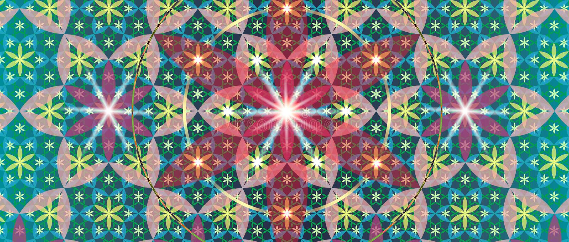 Święty geometria kwiat III royalty ilustracja