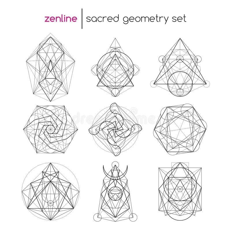 Święty geometria set royalty ilustracja