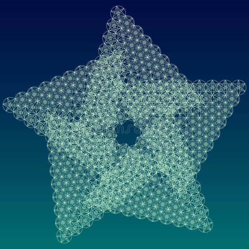 Święty geometrii gwiazdy symbol ilustracji